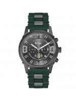 Ρολόι Lee cooper Green Rubber strap με μαύρο καντράν LC06311.065 LC06311.065