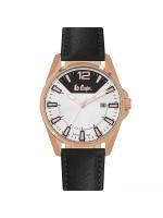 Αντρικό ρολόι Lee Cooper Black Leather strap LC06438.431 LC06438.431