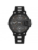 Αντρικό ρολόι Lee cooper Multifunction Black Rubber Strap LC06449.651 LC06449.651
