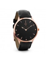 Nick Cabana Nilaya Suit Rose Gold case with Black Leather Strap NC201 NC201