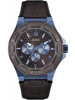 Ανδρικό ρολόι GUESS Brown Leather Strap Chronograph W0674G5 W0674G5