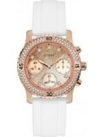 Guess γυναικείο ρολόι by Jennifer Lopez White Rubber Strap W1098L5 W1098L5