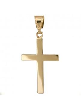 Οικονομικός κλασικός σταυρός για αγόρι από χρυσό Κ14 D017224 D017224