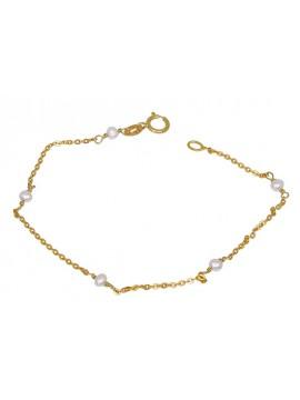 Βραχιόλι με μαργαριταράκια σε χρυσό Κ9 D023194 D023194