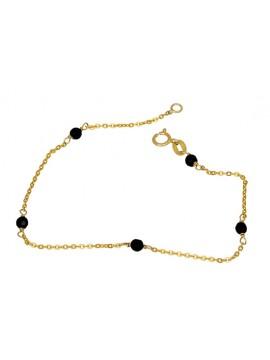 Χρυσό βραχιόλι με πέτρες όνυχας Κ9 D023193 D023193