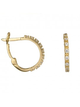 Χρυσά σκουλαρίκια κρίκοι K14 D010928