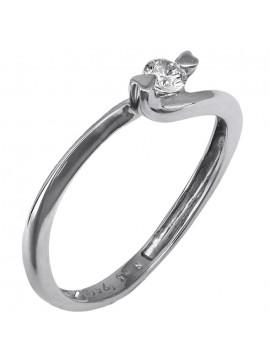 Λευκόχρυσο δαχτυλίδι Κ18 D007401 D007401