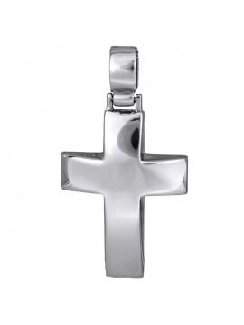 Χειροποίητος σταυρός σε λευκόχρυσο 9Κ D012487 D012487
