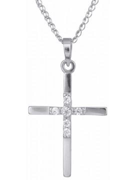 Γυναικείος σταυρός με αλυσίδα Κ14 D012925C