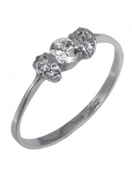 Δαχτυλίδι λευκόχρυσο 14Κ ζιργκόν D016279 D016279