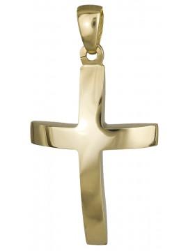 Χρυσός αντρικός σταυρός 14Κ D019686