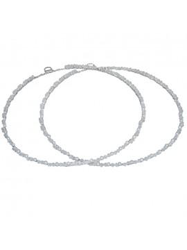 Ασημένια στέφανα γάμου με πέρλες D019738 D019738