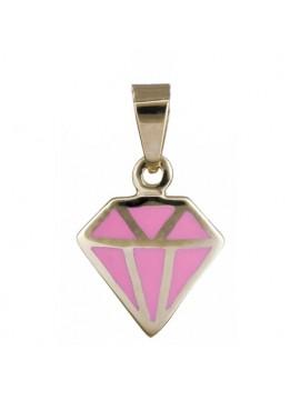 Χρυσό κρεμαστό με ροζ διαμάντι DC020150 D020150C