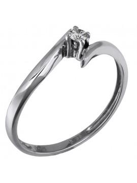 Μονόπετρο δαχτυλίδι Κ18 με μπριγιάν D006367 D006367
