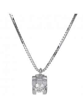 Γυναικείο κολιέ με διαμαντάκι 18Κ D014058