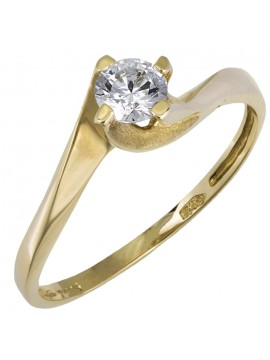 Γυναικείο χρυσό μονόπετρο 14Κ D015826 D015826