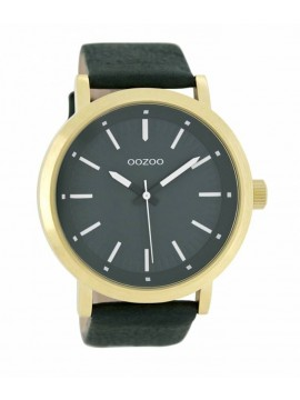 Ρολόι χειρός OOZOO Gold case with Green Leather Strap C8252 C8252