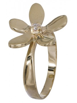 Δαχτυλίδι 14Κ χρυσό λουλούδι D001250