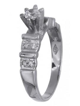 Ασημένιο μονόπετρο δαχτυλίδι 925 D019996 D019996
