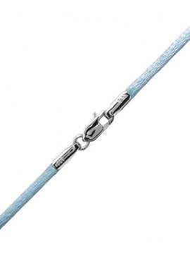 Κορδόνι Γαλάζιο με Λευκόχρυσο Κούμπωμα 14Κ D002169 D002169