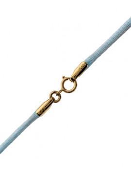 Κορδόνι Γαλάζιο με χρυσό κούμπωμα 14Κ D002176 D002176