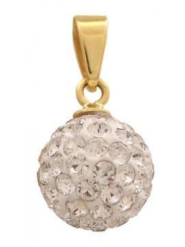 Κρεμαστό Χρυσό Κ14 Μπίλια D002355 D002355