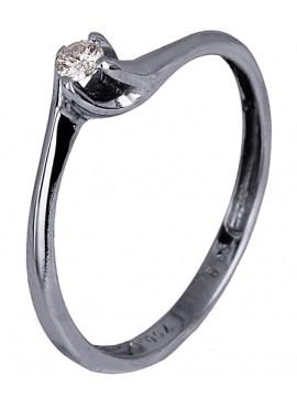 Δαχτυλίδι Κ18 με διαμάντι μπριγιάν D007405 D007405