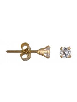 Χρυσά καρφωτά σκουλαρίκια Κ14 με ζιργκόν D001069 D001069