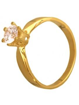Μονόπετρο δαχτυλίδι από χρυσό Κ9 D012712 D012712