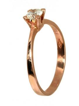 Ροζ χρυσό μονόπετρο με ζιργκόν 14Κ D013144 D013144