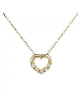 Γυναικείο χρυσό κολιέ Κ14 καρδούλα D013912 D013912