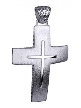 Αντρικός ματ σταυρός 14K D014731