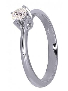 Μονόπετρο δαχτυλίδι Κ18 D015954
