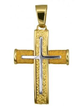 Χειροποίητος συρματερός σταυρός Κ14 D016551