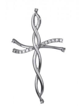 Γυναικείος σταυρός από ασήμι 925 D016649 D016649