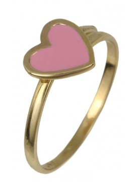 Παιδικό δαχτυλίδι με σχήμα καρδιά Κ14 D017788 D017788