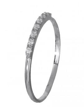 Δαχτυλίδι λευκόχρυσο σειρέ 14Κ D018967 D018967
