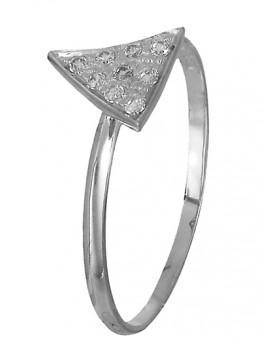 Δαχτυλίδι λευκόχρυσο Κ14 χειροποίητο D018975
