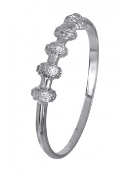 Δαχτυλίδι χειροποίητο λευκόχρυσο 14Κ με ζιργκόν D018976 D018976