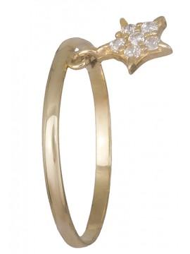 Δαχτυλίδι 14Κ χρυσό με αστεράκι D019184 D019184