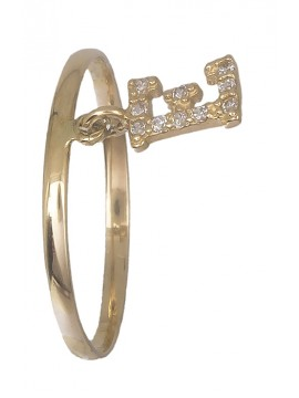 """Δαχτυλίδι χρυσό με μονόγραμμα """"Ε"""" 14Κ D019185 D019185"""