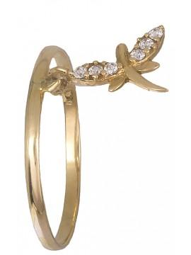 Δαχτυλίδι με λιβελούλα 14Κ D019186 D019186