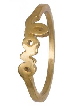 Δαχτυλίδι επίχρυσο love 925 D019842 D019842
