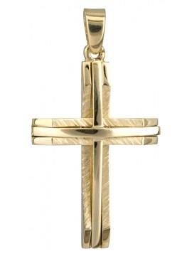 Χειροποίητος χρυσός σταυρός 14 Καρατίων ανάγλυφος D022052