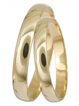 Κλασικές χρυσές βέρες γάμου Κ14 D022332 D022332