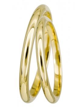 Κλασικές χρυσές λουστρέ βέρες γάμου 14 Καρατίων D022335 D022335