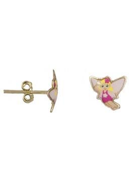 Χρυσά παιδικά σκουλαρίκια νεράιδες 9 Καρατίων D022579