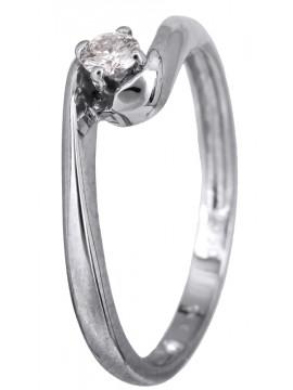 Πρωτότυπο μονόπετρο δαχτυλίδι με μπριγιάν Κ18 D022782 D022782