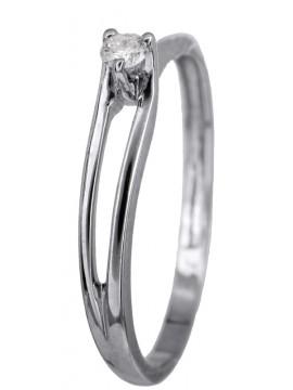 Μονόπετρο δαχτυλίδι αρραβώνα με μπριγιάν Κ18 D022783 D022783
