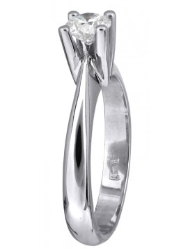 Κλασικό μονόπετρο γάμου με brilliant 18Κ D023732 D023732